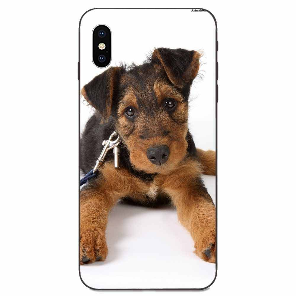 Joli chien Terrier Airedale pour Huawei Mate 9 10 20 P8 P9 P10 P20 P30 Lite Mini Play Pro P smart Plus Z 2017 2019 coque en silicone