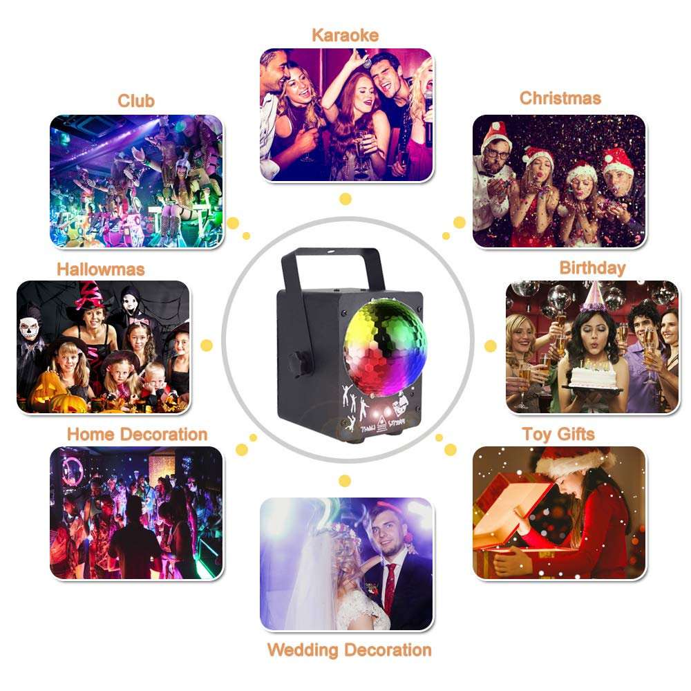 Image 5 - newest 2019 DJ laser RGB stage light projector LED effect lamp disco Christmas holiday bar lighting party indoor lamp remote-in Stage Lighting Effect from Lights & Lighting