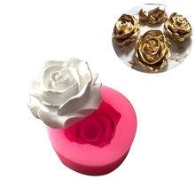3d Цветок Цветение силиконовый в форме розы помадка Мыло Форма