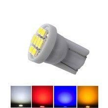 100pcs 6V 6.3V T10 W5W 194 168 אין קוטביות Pinbal מכונת פיראטים מטבע LED מנורת נורות רכב פנים אור 8SMD 1206 לבן אדום DC6V