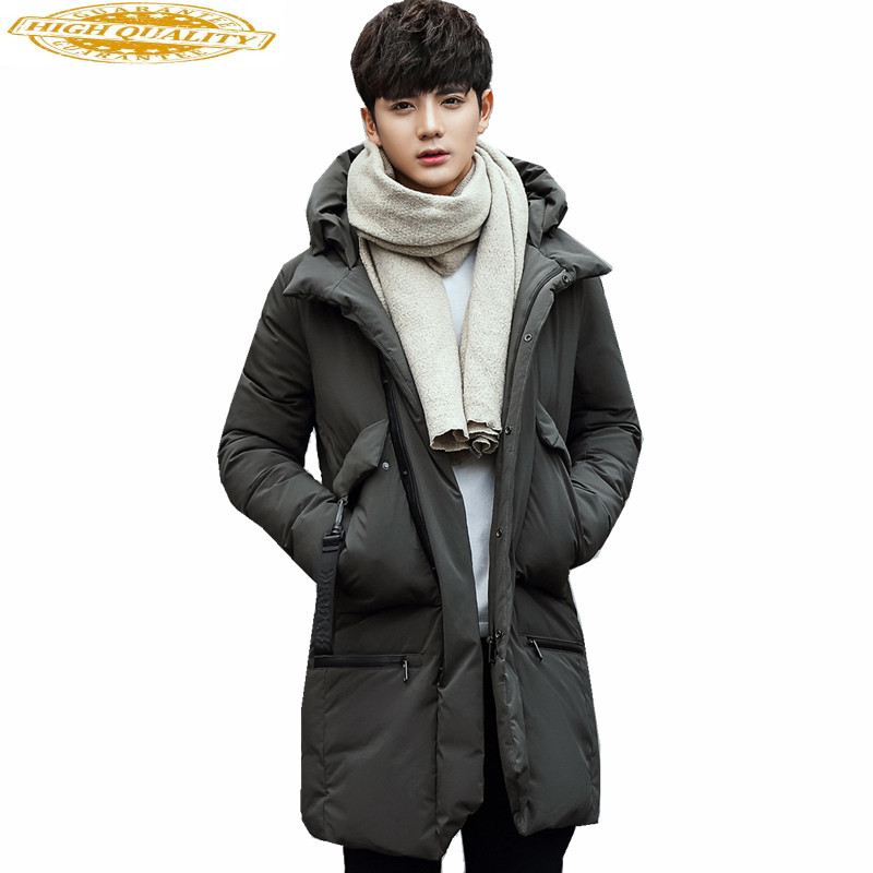 Fashion Winter White Duck Down Coat Male Plus Size Jackets Warm Hooded Coats Men's Down Jacket Chaqueta Hombre WXF152