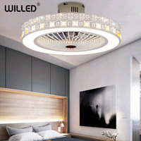 Modern Led Lights Ceiling Fan Lamp Remote Control With Controller 55cm White Light Living Bedroom Room Lighting 220v