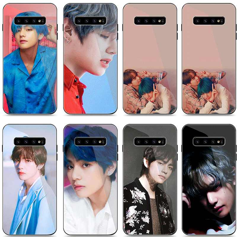 Telefoon Case Glas Voor Samsung S7 S8 S9 S10 Plus A10 A20 A30 A40 A50 A60 A70 S7 Rand Note 8 9 10 Plus Cover Jungkook