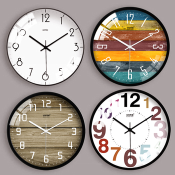 Large Glass Nordic Wall Clock Bedroom Retro Modern Wall Clocks Thick Watches Living Room Novelty Watch Home Decor Clock II50WC