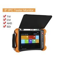 8 Tester Monitor IP Camera Tester 4in1 TVI CVI AHD SDI PTZ Control PoE H.265 Buit in WiFi Security Camera Monitor CCTV Tester