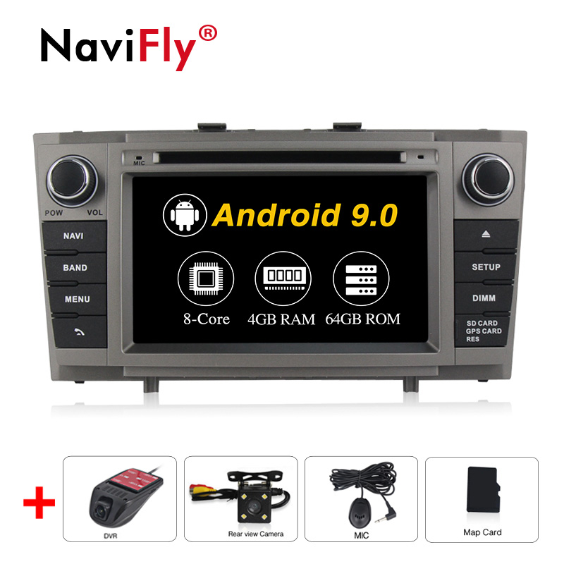 <font><b>Android</b></font> 9.0 Car DVD Stereo Multimedia Headunit For <font><b>Toyota</b></font> <font><b>T27</b></font> Avensis 2009-2014 Auto PC Radio GPS Navigation Video Audio 4G RAM image