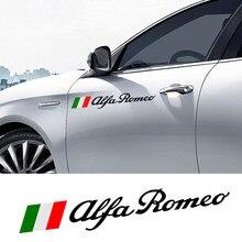 Pegatinas laterales deportivas para puerta de coche, accesorios de decoración de vinilo para Alfa Romeo, Giulia, Giulietta, 159, 156, MITO, Stelvio 147 GT, 60CM, 2 uds.