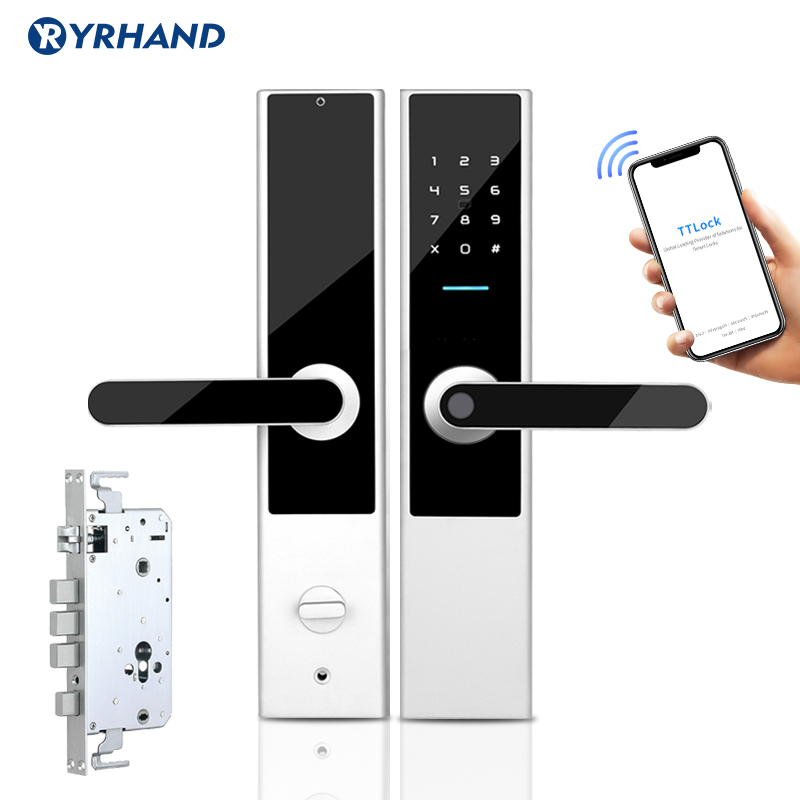Biometric Fingerprint Door Lock Wifi APP Keyless Smart Lock  RFID Card Code Digital Electronic Door Lock Home Safe Mortise Lock
