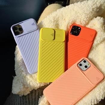Étui de Protection d'objectif d'appareil photo pour iPhone 11 Pro Max 8 7 6 6s Plus Xr XsMax X Xs couleur bonbon Silicone souple couverture arrière cadeau 2