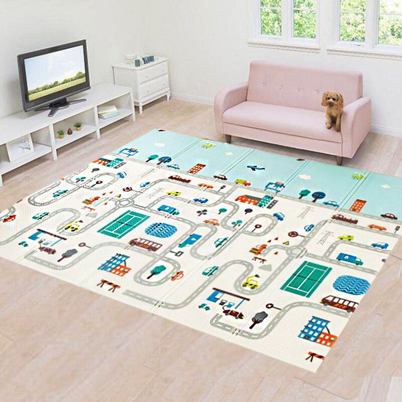 1 см толстый складной детский игровой коврик XPE, детский коврик для скалолазания и дороги, поролоновый коврик, Экологичная безвкусная игра