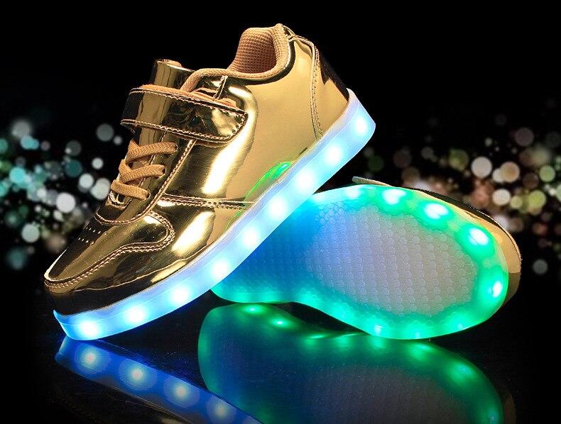 loop de carregamento usb Moda luminosa sapatos