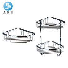 Shengruijia сантехника аксессуары двойной слой нержавеющая сталь сторонник аксессуары для ванной комнаты сетка корзина уголок St