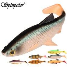 Spinpoler isca de pesca 3d plástico silicone pique isca shad nadar pesca equipamento 5g/10g/20g/40g
