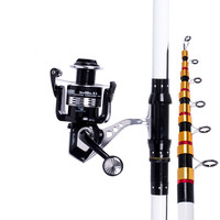 Carbon Fiber 2.1m 2.4m 2.7m 3m 3.6m Distance Throwing Pole Telescopic Rock Fishing Rod Carp Canne Feeder Rod Spinning Olta Pesca