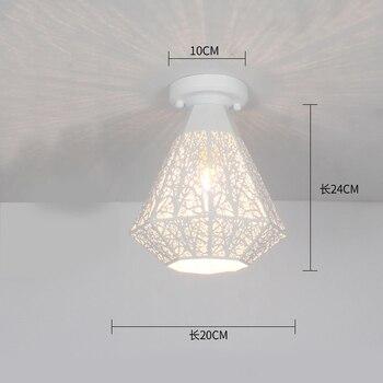 Ceiling lights Minimalist Retro Ceiling Lamp Glass E27 industrial decor  lamps for living room Home Lighting Lustre Luminaria 14