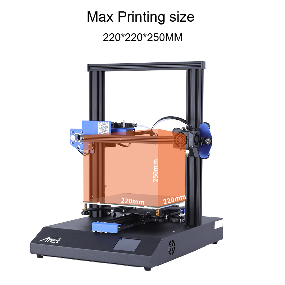 ANET ET4 and ET4 X 3D Printer with Filament Detection/Offline Printing and Color Touch Screen 2