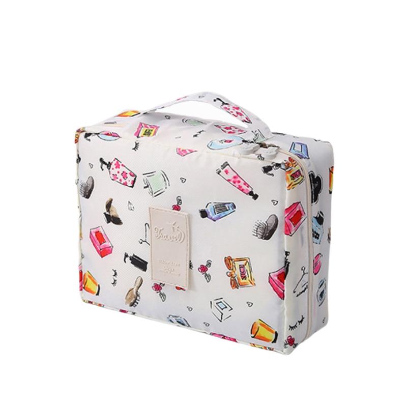 19New Men Women Cosmetic Bag Nylon Toiletry Kit Organizer Waterproof Portable Makeup Bag Travel Necessity Beauty Case Wash Pouch