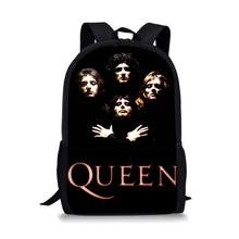 Thikin Rock The Queen Band Students School Bag for Boys Teenagers Backpack Travel Package Shopping Shoulder Women Mochila
