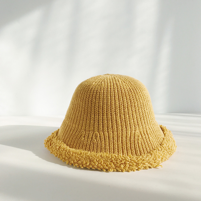 Winter Bucket Hat For Women Outdoor Windproof Kitted Wool Winter Panama Warm Spring Autumn Female Fishing Cap in Men 39 s Bucket Hats from Apparel Accessories