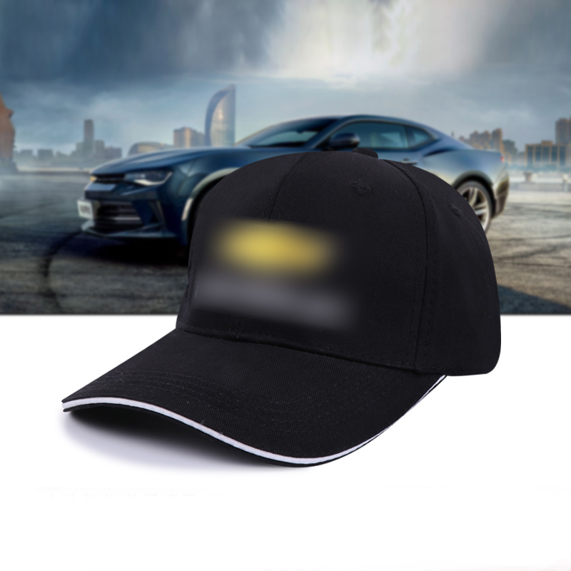 black Racing Cotton Baseball hat peaked cap sunshade sunhat golf Adjustable hats men women for Chevrolet