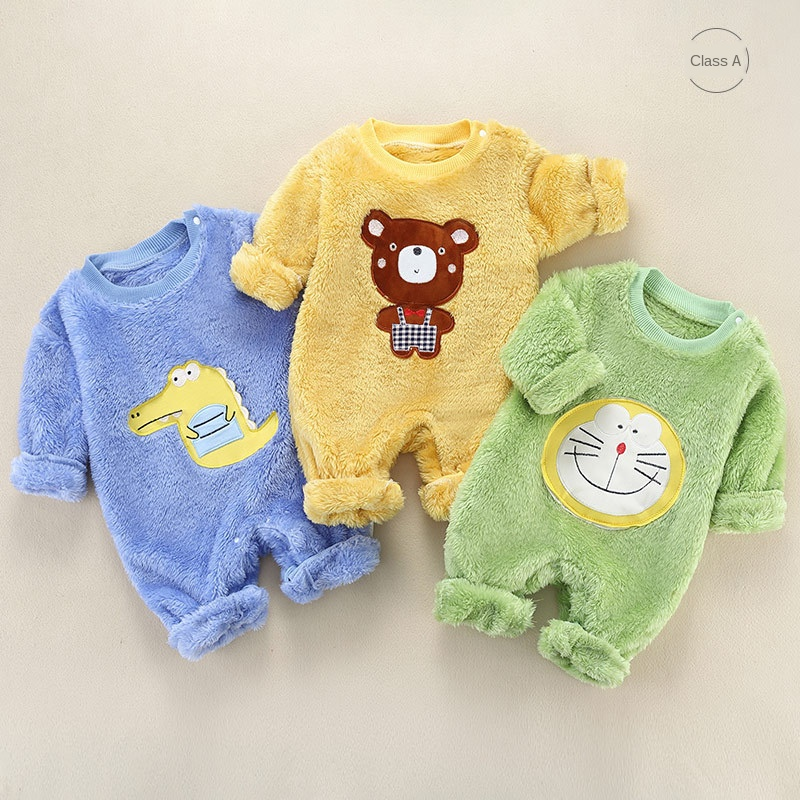 Baby Romper Newborn Baby Clothes Boy Cotton Baby Onesie Autumn Winter Baby Girls Jumpsuit Infant Clothing Long Sleeve | Happy Baby Mama
