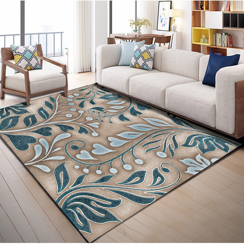 Abstract Flower Art Carpets For Living Room Bedroom Area Rugs Anti-slip Kitchen Mats High Quality Fashion Hallway Thicken Carpet