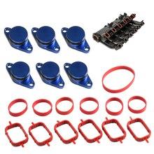 6 Pcs for Bmw Swirl Blanks Flaps Repair Delete Kit with Intake Gasket M57