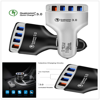 4 socket USB Quick Charger 3.0 Car phone Adapter Fast for BMW E34 F10 F20 E92 E38 E91 E53 E70 X5 M M3 E46 E39 E38 E90 image