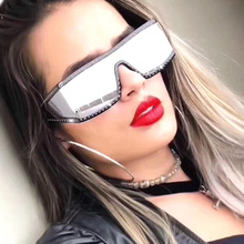 oversize Women square flat top Sunglasses vintage men