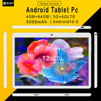 Pc 10.1 Inch Tablet pc Android 10.0 Android Tablets 4GB+64GB ROM 3G/4G LTE Phone Call Octa Core Bluetooth Wi-Fi GPS FM Fast Cpu 1