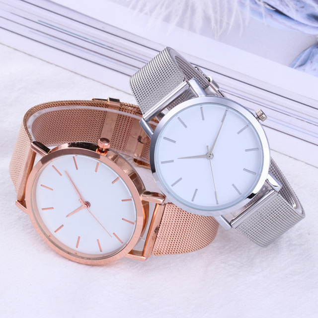 Fashion Women Watches Simple Romantic Rose Gold Watch 1