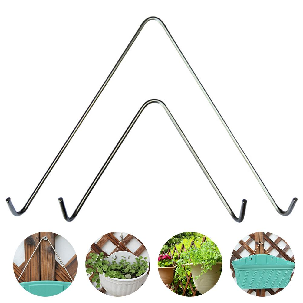 Stainless Steel V-shaped Hook Home Gardening Supplies Plastic Wall Hanging Flower Pot Special Triangle Hook