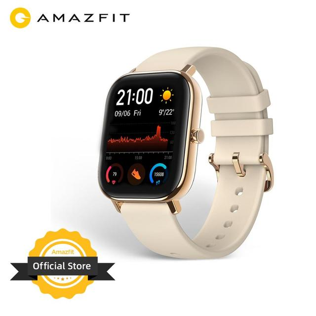 Global Version Amazfit GTS Smart Watch 5ATM Waterproof Swimming Smartwatch NEW 14 Days Battery Editable Widgets for Android 1