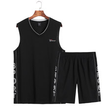 8XL 7XL Big Size Tweedelige Set Korte Mouwen Heren Zomer Sportwear Sets Uitloper Sweatshirts Mannen Strand Pak top Shirt + Shorts(China)