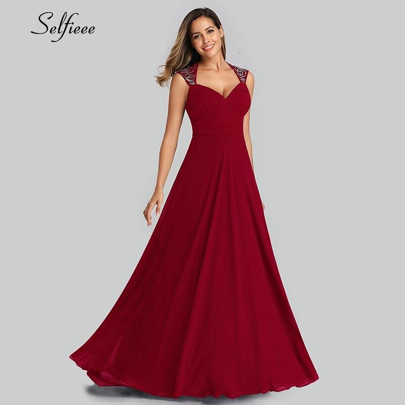 Elegante vestido maxi a linha com decote em v sem mangas ruched vinatge chiffon vestido feminino senhoras vestidos de festa à noite 2019