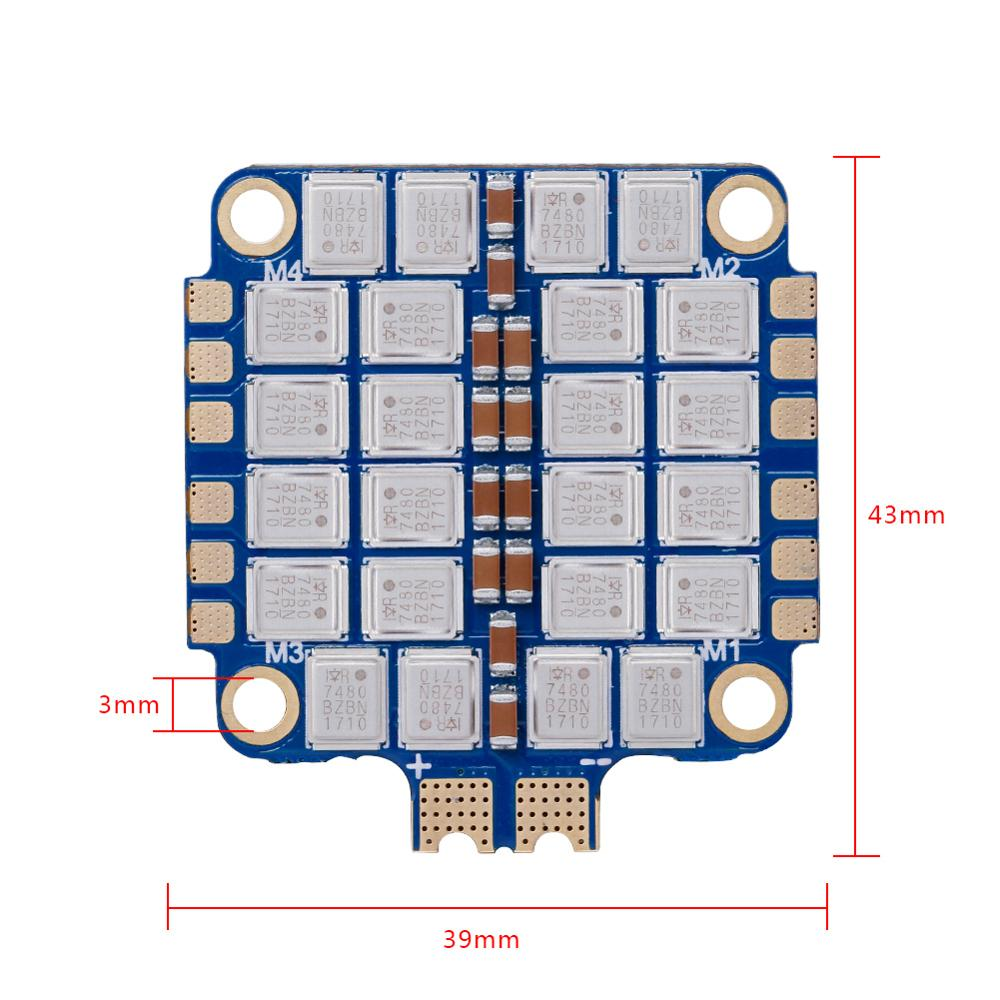 iFlight SucceX 60A V2 Plus BLHeli 32 4 in 1 ESC support DShot 150 / 300 / 600 / 1200 /OneShot & 2 8S lipo input for FPV drone - 5