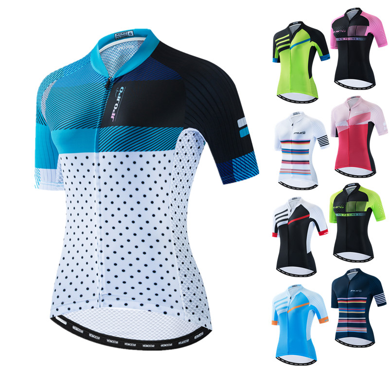 2021 Women Cycling Jersey Tops Summer Mountain Bicycle Clothing Maillot Ciclismo Short Sleeve MTB Bike Jersey Team Cycling Shirt