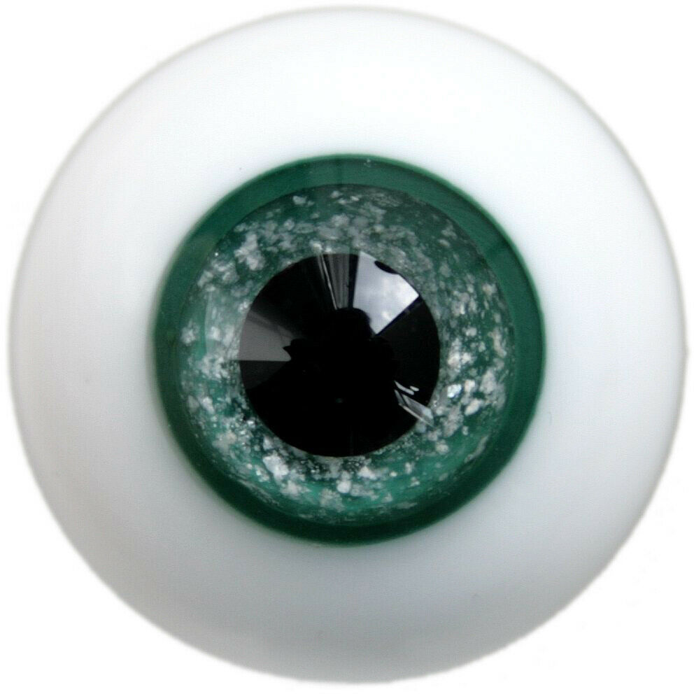 [wamami] 6mm 8mm 10mm 12mm 14mm 16mm 18mm 20mm 22mm 24mm Green Glass Eyes Eyeball BJD Doll Dollfie Reborn Making Crafts
