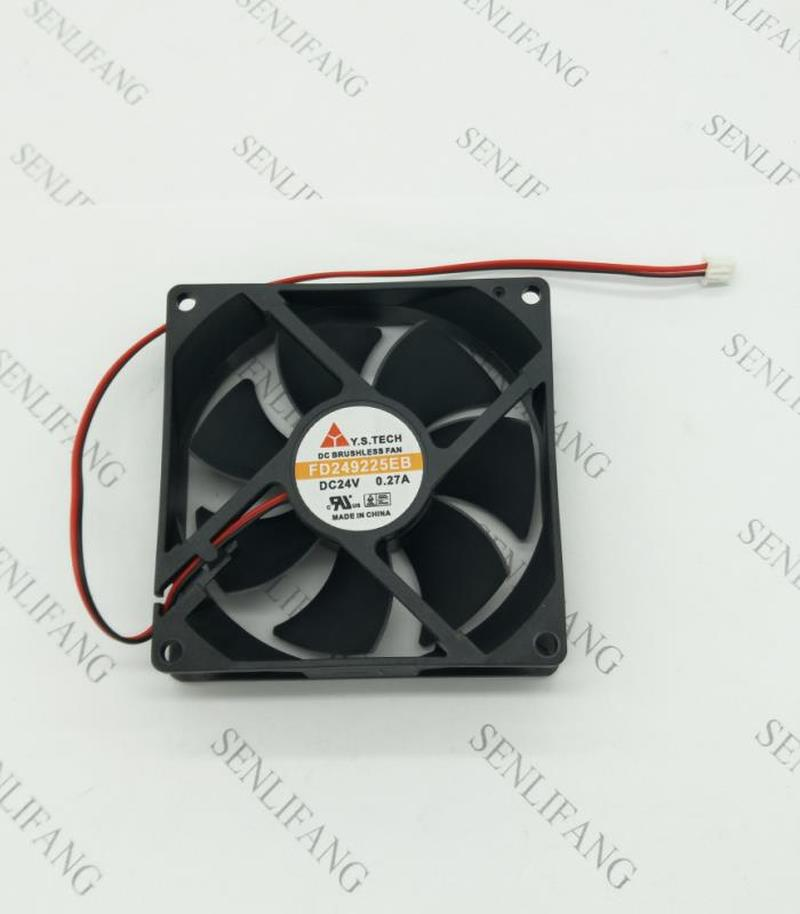 For Original . 24V 0.27A 9025 90*90*25MM FD249225EB 2 Wire Ball Inverter Fan Free Shipping