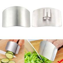 1 шт. профессиональные нержавеющая сталь защита пальцев Безопасный ломтик инструменты для приготовления пищи защита пальцев