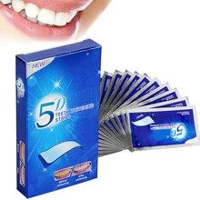 Summer New 5D Gel Teeth Whitening Strips Dental Whitening Double Elastic Oral Hygiene Care Strip For False Teeth Veneers Dentist