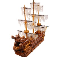 16016 The Flying Netherlands Ship 3652pcs Caribbean Pirates Ship Building Blocks Movie Warship Bricks Toys compatible legoinglys