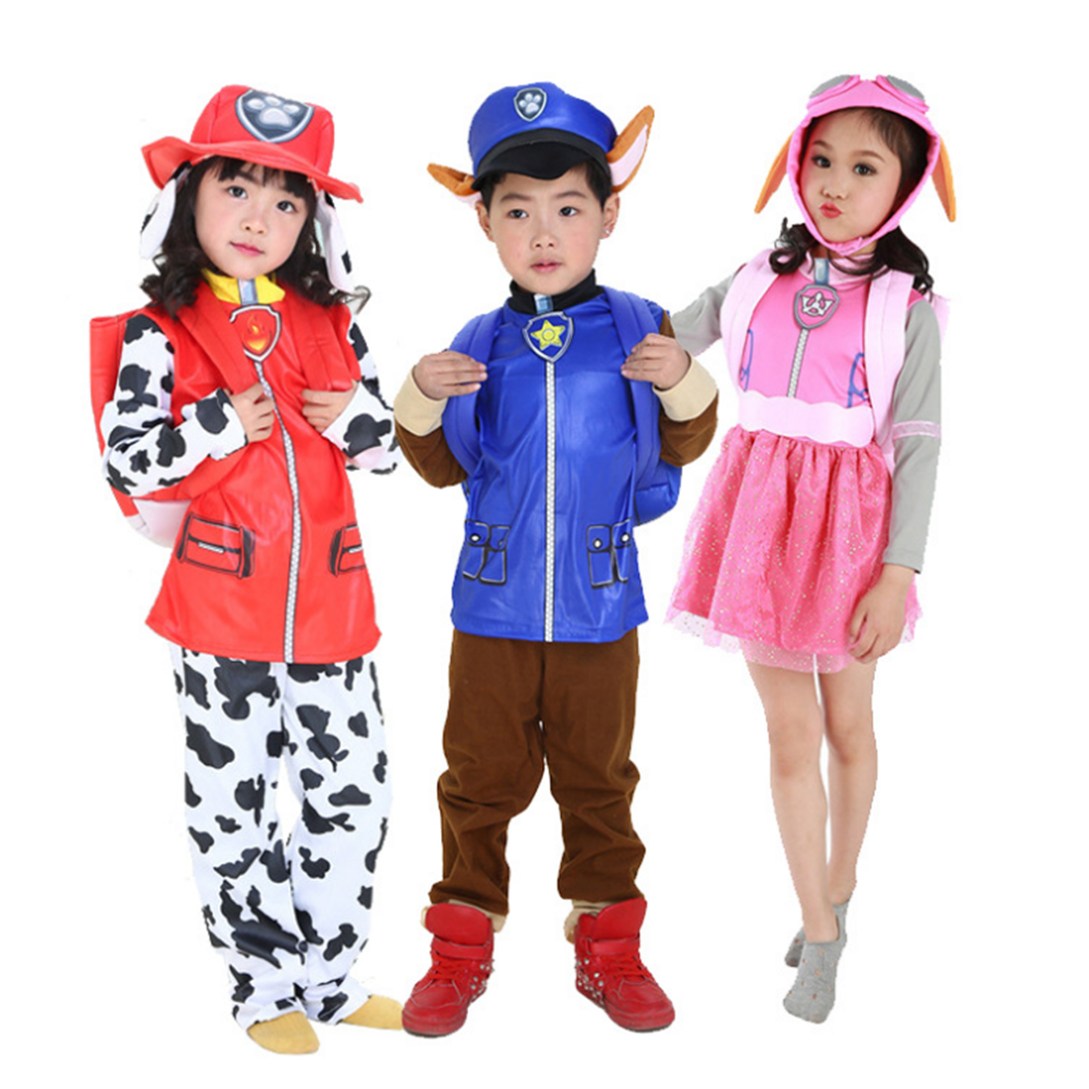 Christmas Party Costume Cosplay Skye Marshall Chase Costume Boys Girls Purim Carnival Dress