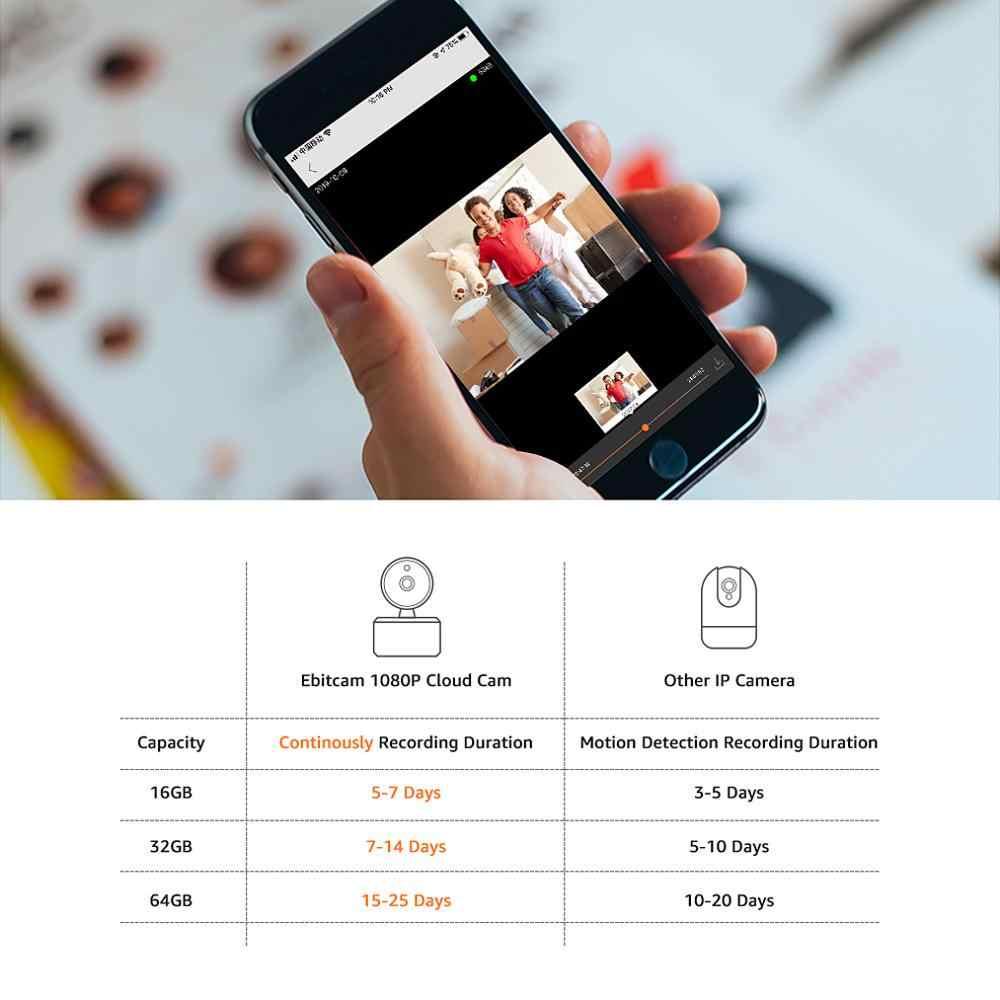 Ebitcam Điện Toán Ip Camera Wifi 1080 P Mini Trong Nhà Camera IP Wifi Thẻ SD 1080 P Camera An Ninh Không Dây