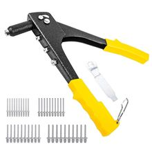 цена на POP Rivet Tool Rivet Gun with 40Pcs Steel Blind Rivets (4 different Size) + Adjust The Wrench