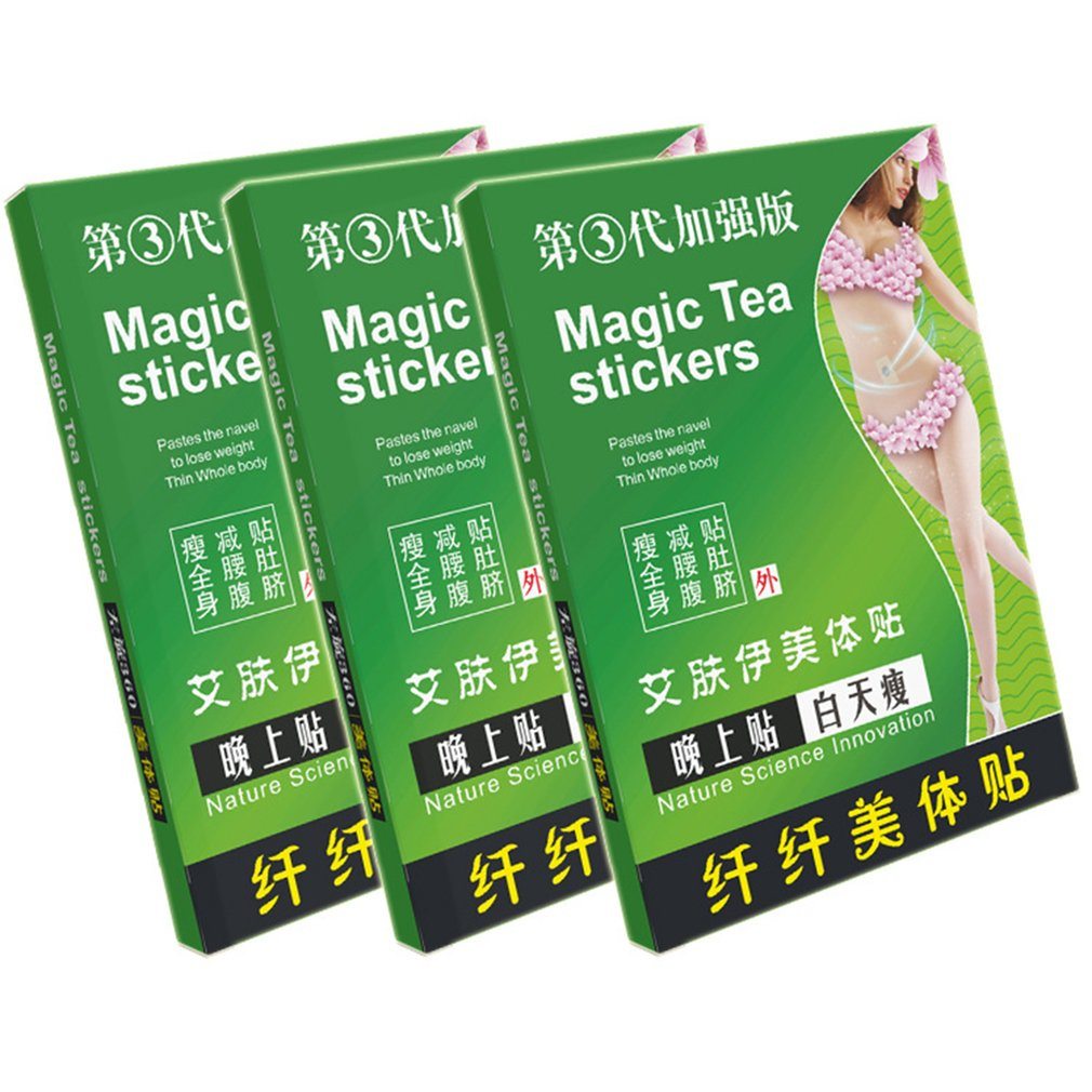 Magic Sleeping Tea Stickers Fat Burning Stickers Slimming Plaster Perfect Body Forming Paste Skinny Waist Patch
