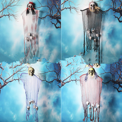 Horrible Hanging Skull Ghost Halloween Decoration for Party Haunted House