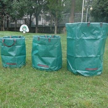 120л большая емкость, садовый мешок, многоразовый лист, мешок для мусора, Складной садовый мусор, контейнер для сбора мусора, сумка для хранения