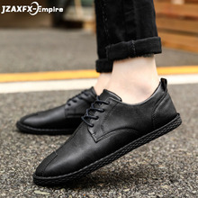 Trend Retro Casual Shoes Men Breathable Sneakers Leather Flat Vulcanize Outdoor High Quality Footwear For