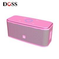 DOSS SoundBox Touch розовый bluetooth-динамик 2*6 Вт переносные беспроводные колонки стерео звуковая коробка с басами и встроенным микрофоном для подарка
